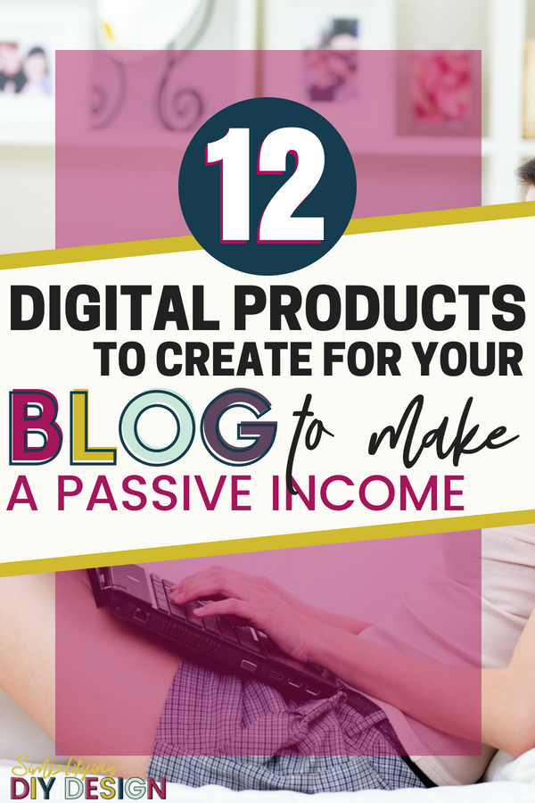 Learn how you can do the work once and get paid over and over! Digital products are an amazing way to create a passive income for your blog and start making money online fast even without a ton of pageviews! #digitalproducts #passiveincome #eproducts #designproducts #designdigitalproducts