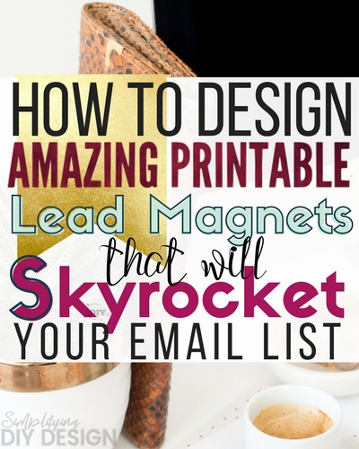 I really underestimated the growth of my email list before I started making killer lead magnets. This is a great article that gives you the tools you need to design lead magnets that actually GET subscribers!!