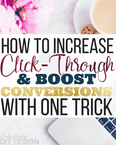 Wow-- not only did this trick help me increase click-through rates but my conversions are through the roof! AND I'm gaining trust and nurturing my list! laziness made me put this off for awhile but now I'll never turn back!