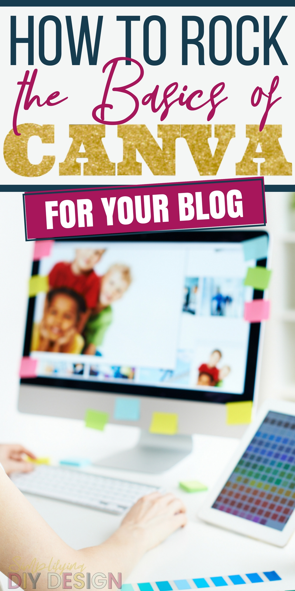 Ugh yes!! Ok I can't even tell you how many hours I spent looking at tutorials and trying to figure out how to make my lead magnets and other blogging projects Pinterest pretty with Canva. You NEED to have eye catching and professional graphics if you want to grow your blog-- it's such a life saver that I can do this in Canva now!!
