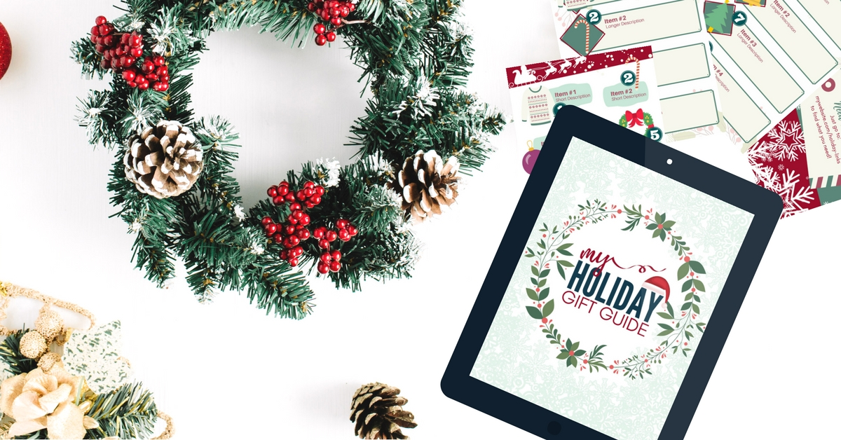 Get our free gift guide template for your blog right now!