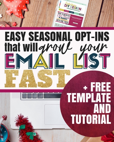 Holiday marketing can be a huge opportunity to grow your email list and your income! Here are some ideas for opt ins you can design to boost your email list! Your business will thank you for these tips!
