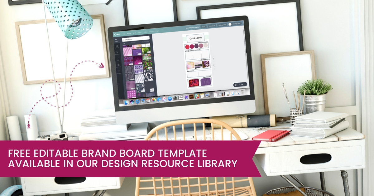 how to create a brand personality free brand board template
