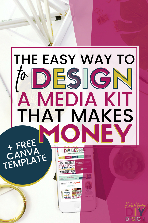 Design a media kit that makes money! Presentation matters and if you want to monetize your blog by getting sponsored campaign, you need a professionally designed media kit. But here's the thing; you can design it yourself! Plus, I even have a free canva template to help! #blogging #getsponsoredcampaigns #makemoneyblogging #monetizeyourblog #mediakit #mediakittemplate #designamediakit