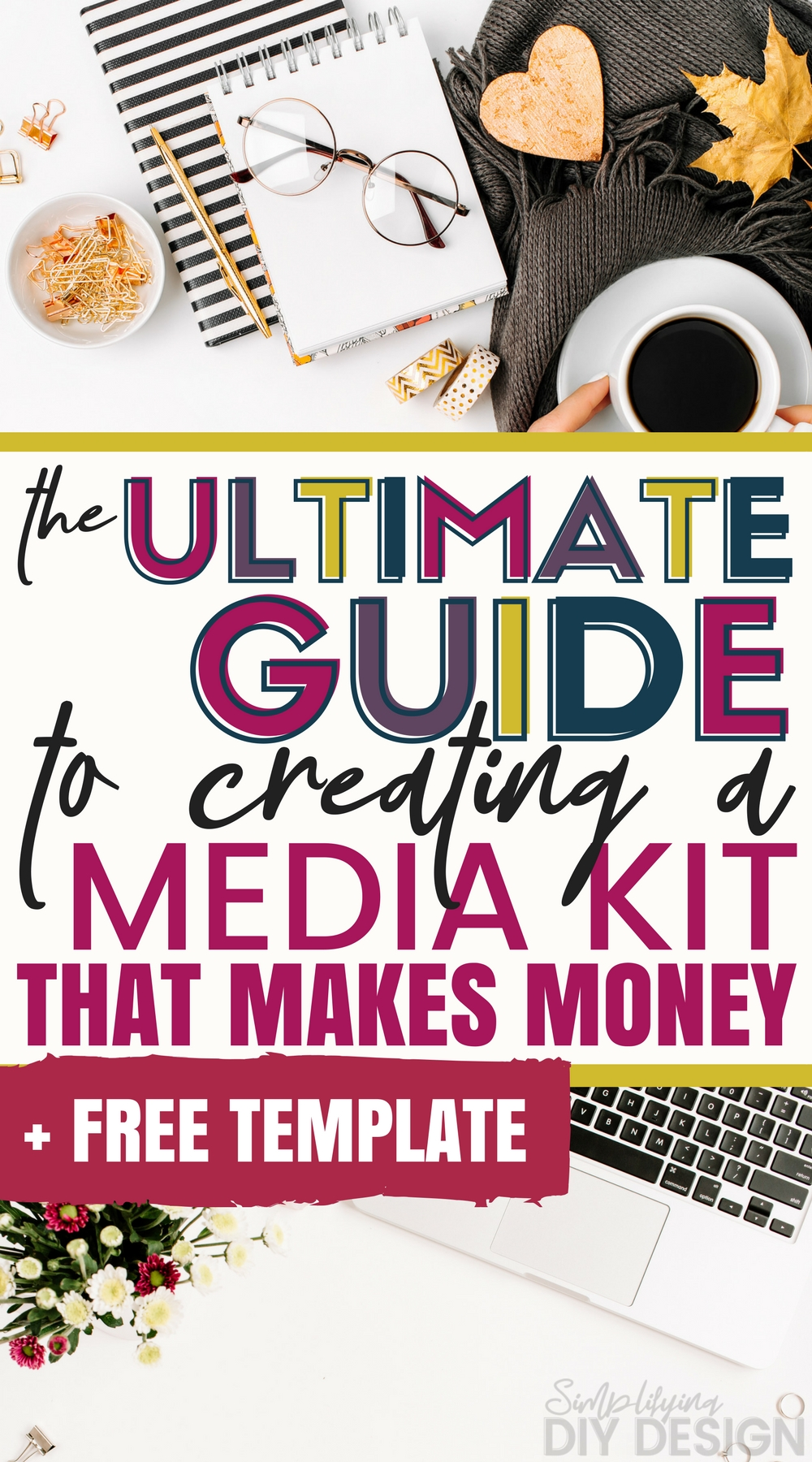 Start making money with you blog using our free media kit template, customizable in Canva! Even if you don't know how to design, you can create a professional media kit that brands won't be able to turn away!