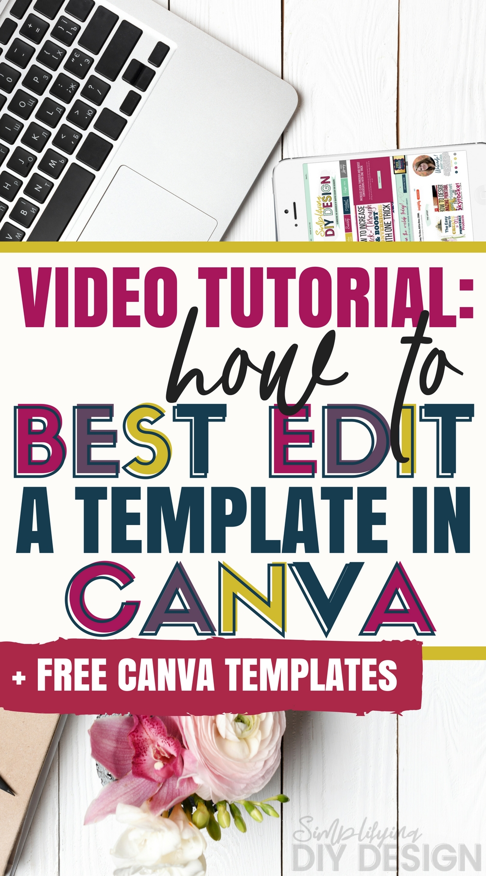 Image with title: How to Best Edit a Template in Canva