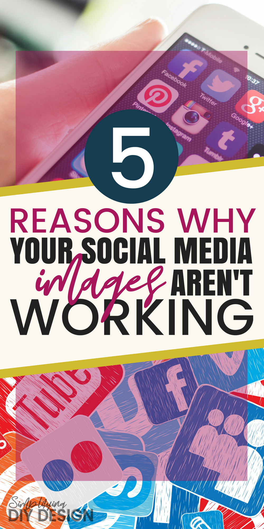 Title of image: 5 Reasons why your social media images aren't working