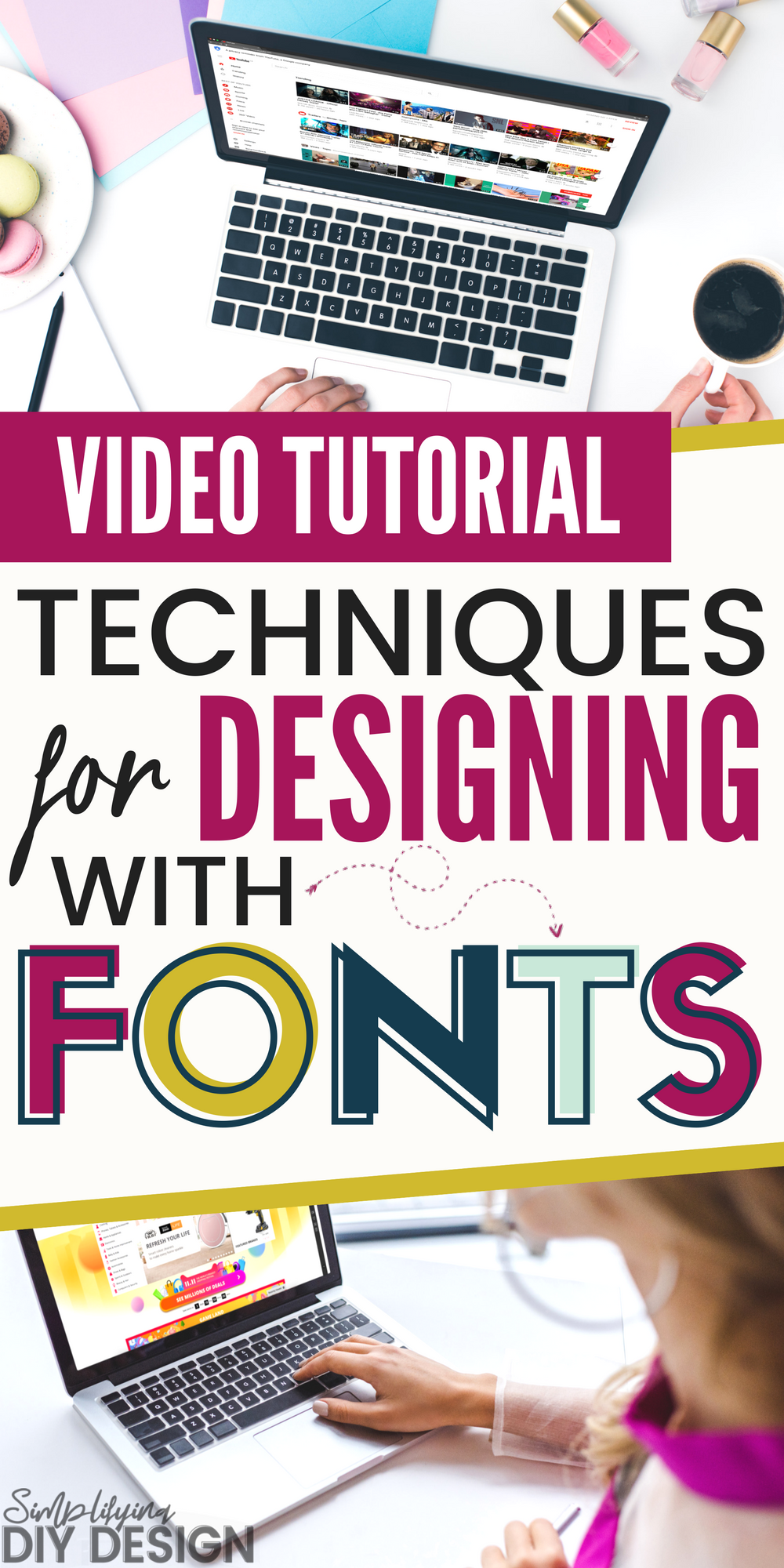 Title of image: Techniques for designing with fonts