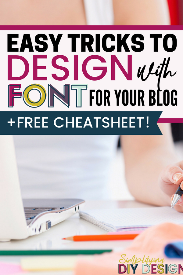 These simple font design tricks will help your titles and headlines jump off the screen! These simple design techniques are exactly what you need to increase conversions with your social media graphics, lead magnets, mockups, and more! #bloggraphics #socialmediagraphics #designforbloggers #canvaforbloggers #fontdesign #designwithfont