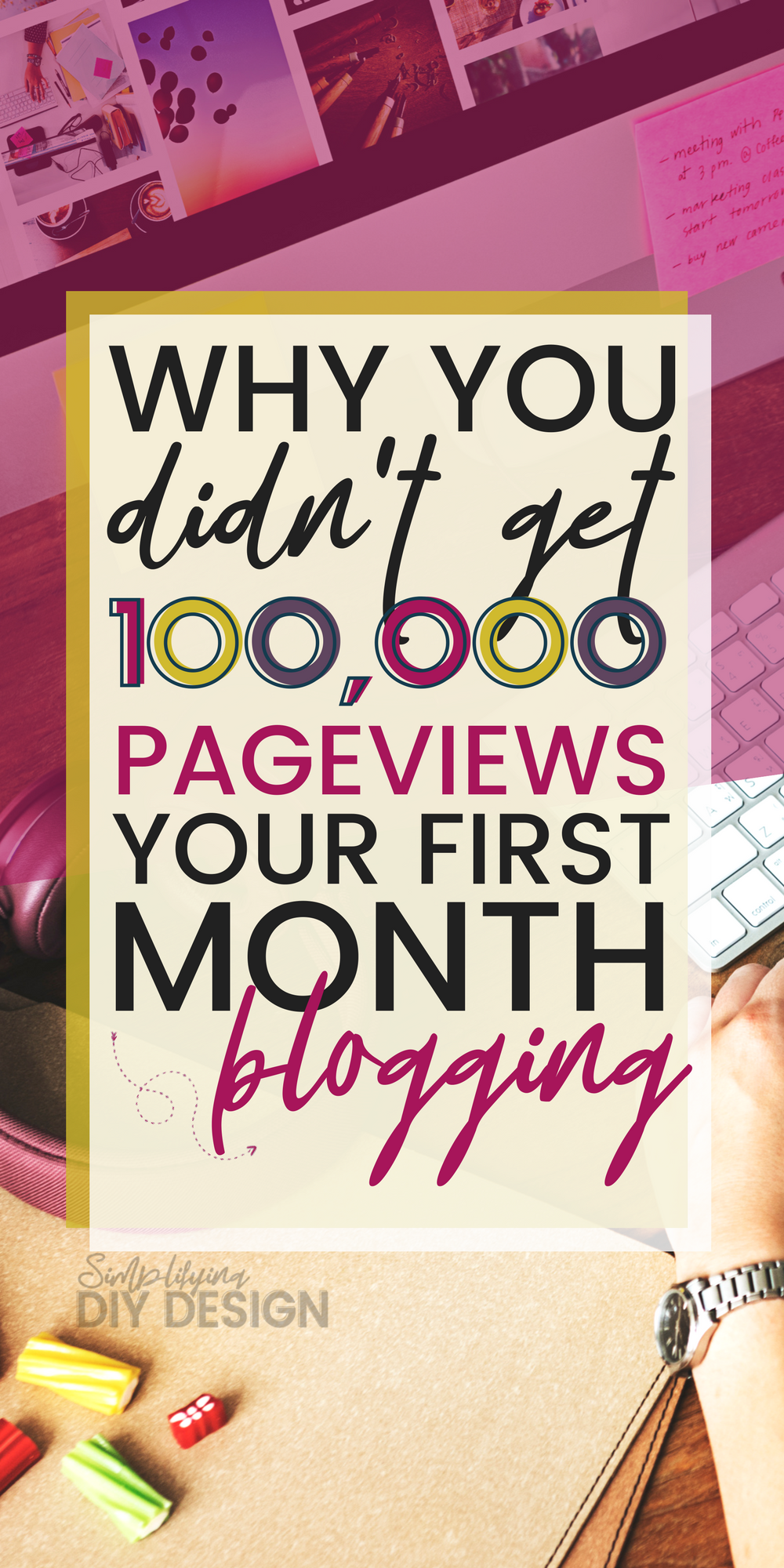 Title of image: Why you didn't get 100000 pageviews in your first month blogging