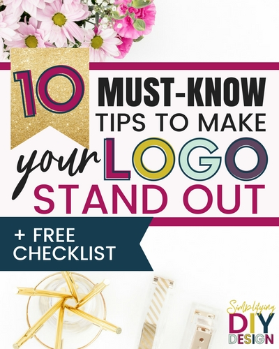 Let's face it, not everyone can afford to hire a designer to design them some breathtaking logo but it IS possible to DIY your logo design and have it look pretty awesome. Here are 10 MUST KNOW tips for getting your blog logo to stand out! #logodesign #designforbloggers #blogging #branding