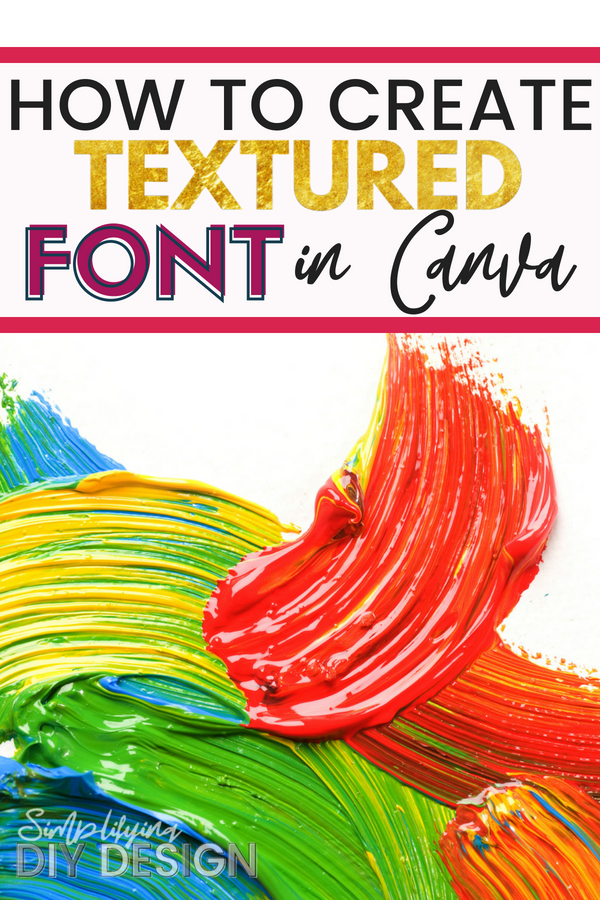 Creating textured font in canva is such an awesome hack for making your social media graphics jump off the page! Creating stunning pins is a big way to increase blog traffic and get more pageviews so when your pin can stand out against the rest, you have the advantage! #socialmedigraphics #socialmediadesigns #socialmediaimages #bloggraphics #canvagraphics #canvatutorials #designtutorials