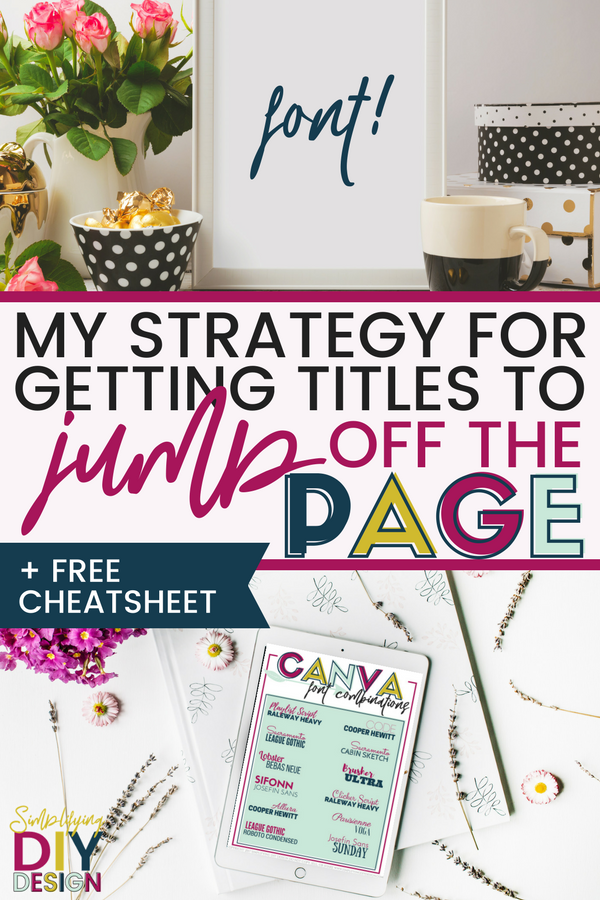 Title of article: My Strategy for Getting Titles to Jump Off The Page