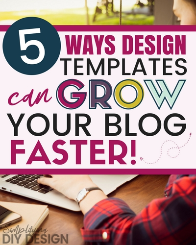 Using Canva templates can actually help you grow you blog, increase your traffic, grow your email list, and make more money blogging. How is this possible? Let me tell you 5 reasons why this happens and how you can make it work you for! #canvatemplates #bloggertemplates #bloggerdesign #designforbloggers #makemoneyblogging