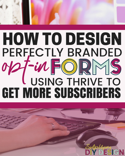 Find out how you can design perfectly branded custom opt in forms using a simple design tool like Thrive! The opt in form is what powers your email list, it needs to stand out and jump off the screen to grab those subscribers. This simple tool can help you build you list fast! #emailmarketing #emailtips #listbuilding #optinforms #designtools