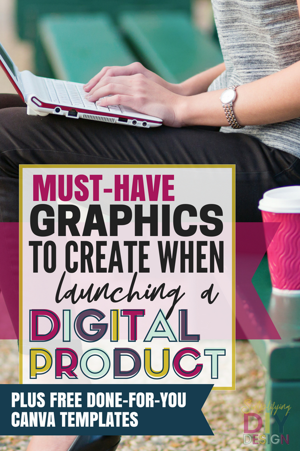 Launching a digital product take a lot of moving parts and one of the most important is the graphics and visual aspect of the launch! Find out what graphics you must create to have a successful launch and make money blogging fast! #blogging #launch #digitalproduct #graphicsforlaunch #promographics #bloggraphics #launchgraphics