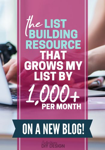 The list building resource that helps me grow my email list fast even on a new blog. This course easily goes on my list of couldn't-have-done-without-it tools and continues to me my list building, email marketing strategy for every single blog post! #listbuilding #emailmarketing #growemaillist #listbuildingforbloggers #blogging