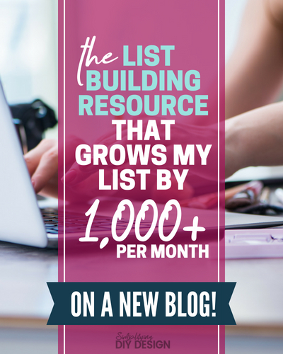The List Building Resource That Grows My List by 1000+ Subscribers Per Month