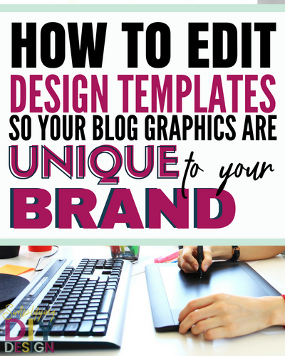 Find out how you can best edit your favorite canva templates so you blog designs are unique and fit your blog brand perfectly. Design templates can help you save a ton of time and create more content quickly but you don't a generic looking social media graphic either-- here's how to avoid that and the common mistakes I see! #bloggerdesigns #blogging #design #canvaideas