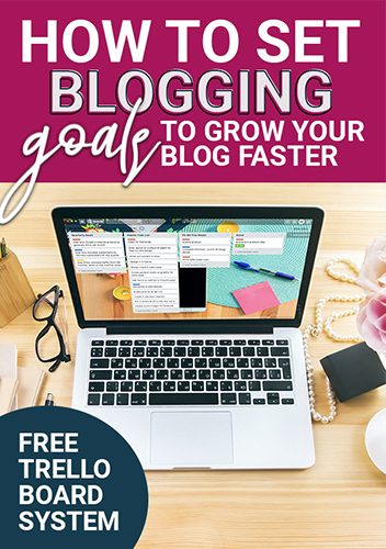 Find out how to set blogging goals for your business that will help you maximize each quarter and grow your blog faster. This goal setting strategy using trello was a complete game changer for my business! #goalsetting #bloggoals #simplifyingdiydesign