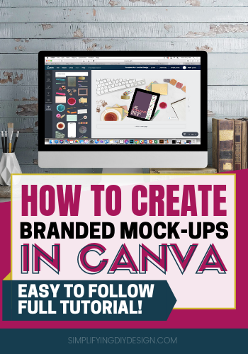 I always wondered if I would ever be able to use an awesome scene creator and create beautiful custom branded mock up images for my digital products. This canva tutorial was so easy to follow and easy to implement. I am now able to design product images that convert better and make me more money online! #digitalproducts #mockups #simplifyingdiydesign