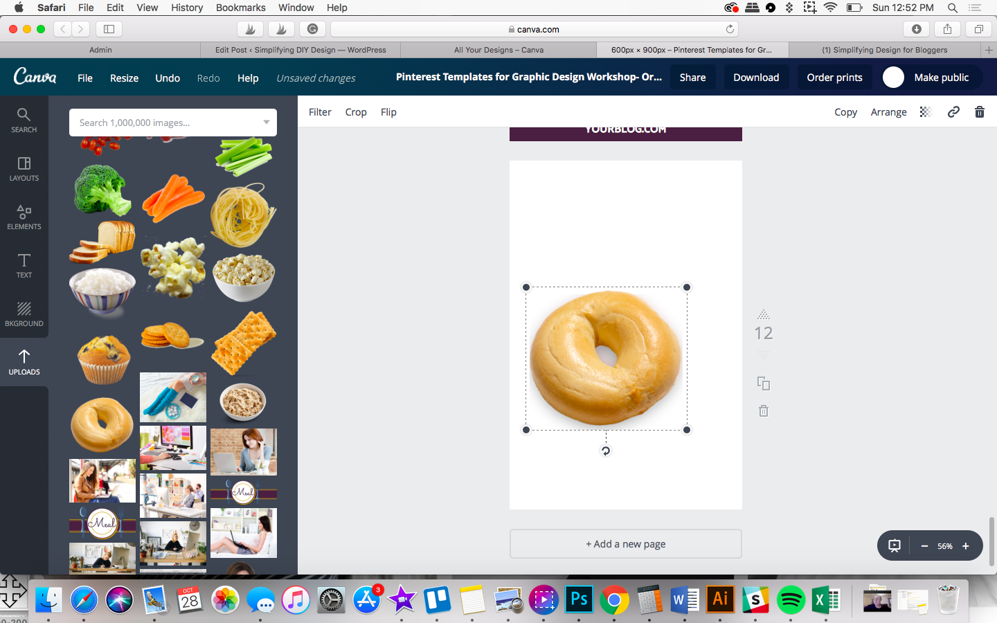 making a shadow in canva for bloggers