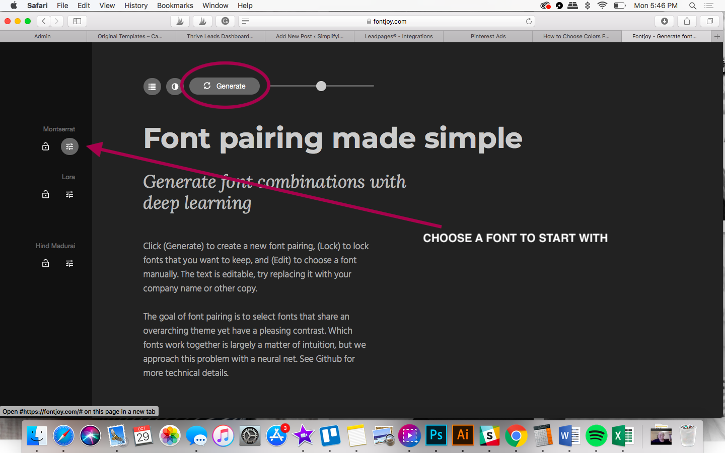using a font generator to pair fonts