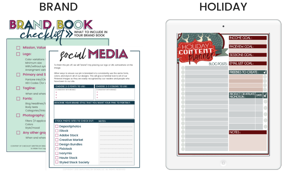 Going off brand with seasonal colors to create holiday printables