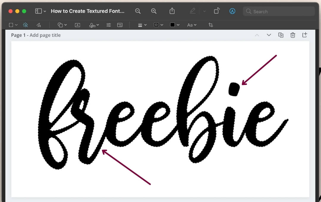 Create textured font using Canva and Preview to make your graphics pop, boost your traffic, and increase conversions to make money blogging!